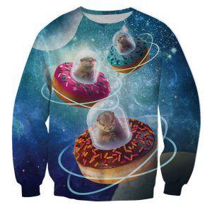 foute Trui met donuts ufos en otters. feestkleding was nog nooit zo leuk
