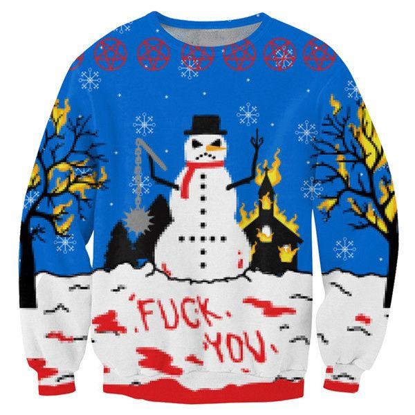 Fuck kerst! De anti kerst trui