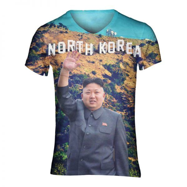 Festival shirt met Kim Jong Un
