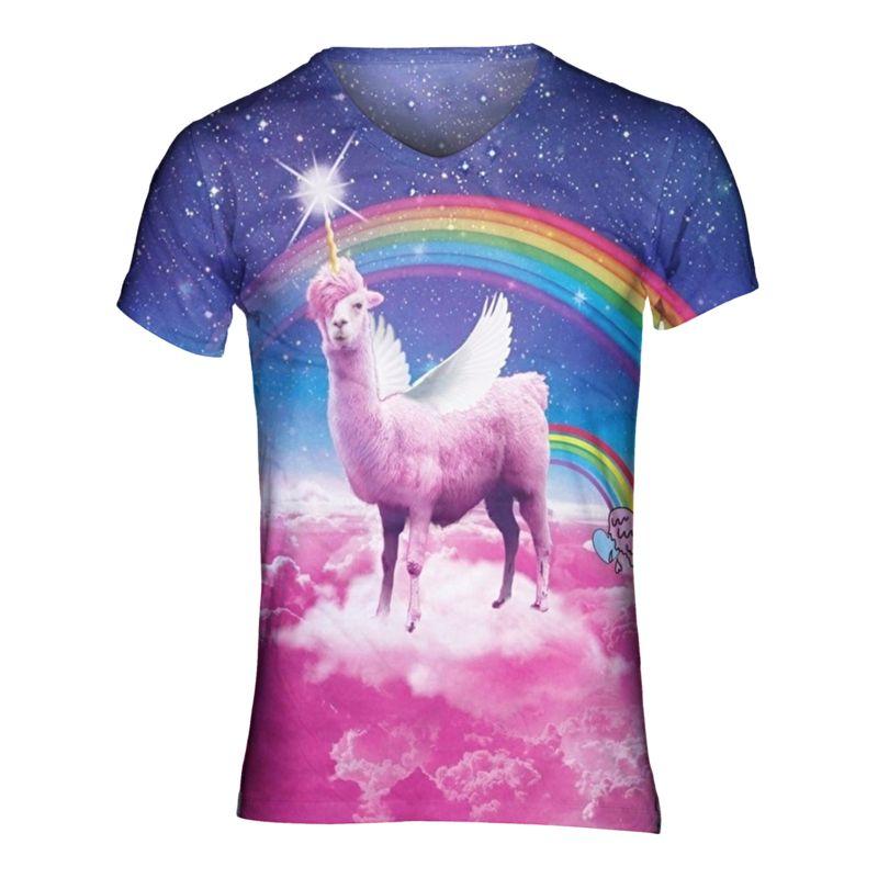 Swag lama tshirt - V-hals, XL