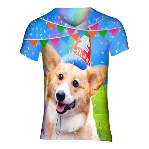 Verjaardagsshirt met corgi voor elk feestje