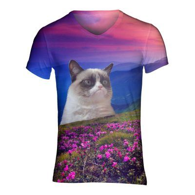 Geen festival outfit is compleet zonder festivalshirt Dit grumpycat shirt is tof