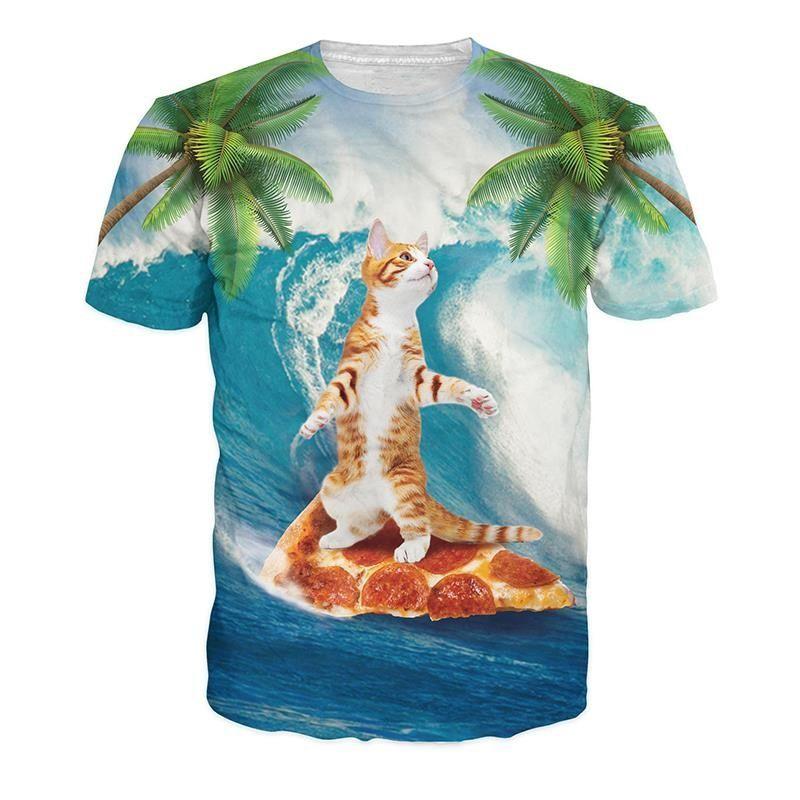 Pizzakat surfer - Crew neck, M
