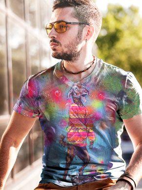 festivalshirt met een geit die aan de LSD zit. ideaal voor elke rave