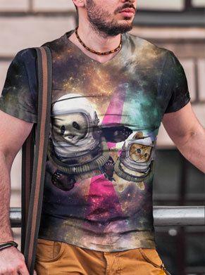 panda kat galaxy fout shirt festivalshirt