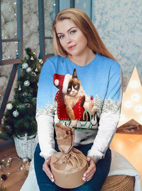 grumpycat kersttrui voor vrouwen foute kleding