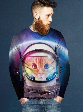 foute trui met kat in astronautenhelm
