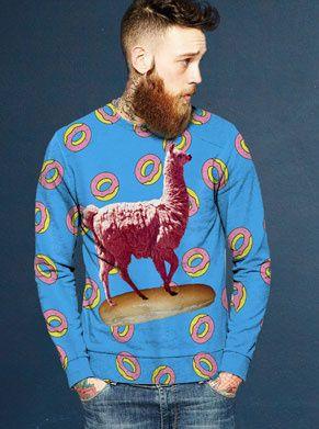 foute trui met lama baguette en donuts, wie houdt daar nou niet van?